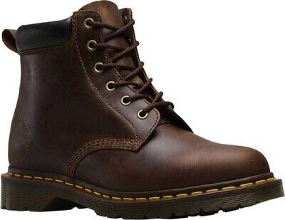 NEW Dr Martens 939 Ben 6 Eye Brown Gaucho Crazyhorse Leather Padded Collar
