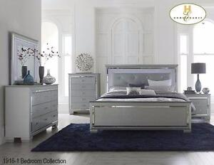 5PC BEDROOM SET WITH LED LIGHTING MODEL 1916 IN GREY