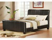 Leather bed (queen) + mattress + base