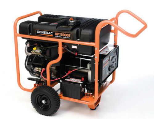 New Generac GP15000E Electric Start Portable Generator Gas Powered Back Up Power