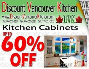 Up to 60% OFF for all 68 STYLES Kitchen Cabinets From DVK