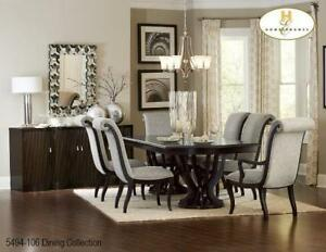 Extendable Solid Wood Dining Set (MA207)