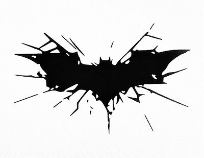 Batman Laptop - DARK KNIGHT CRASHING Smashing Batman Rises Vinyl Decal Sticker Laptop Comic