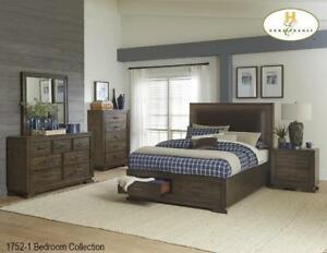 Brown 8 PC Queen Bedroom with Storage (MA712)