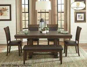 Light Rustic Ash Finish 7 PC Dining Set (MA528)