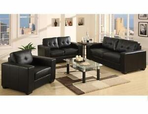 2 PC FAUX LEATHER SOFA SET $798