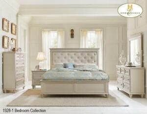 beige bed Furniture Sale (MA2555)