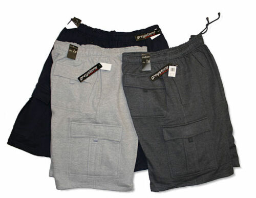 Big & Tall Greystone Fleece Cargo Shorts - Heavy Duty Casual Bottoms- 3x To 10x
