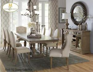 7 PC Dining Set with 2 Extensions and Pedestrial (MA698)
