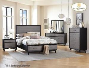 Dark Grey Bedroom Set (MA608)