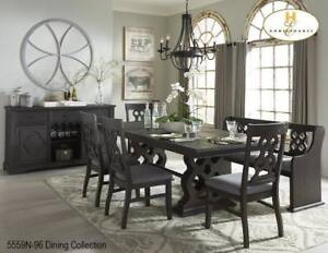 Big Dining Set with Bench on Sale (BD-2369)