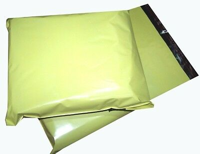 500x Yellow Plastic Mailing Bags 6x8