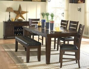 Practical,Excellent Quality dining Table w/4 chairs and a bench