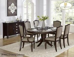 ROUND WOOD DINING TABLE  -SHOP FOR BEST DEALS ON FURNITURE AT KITCHEN AND COUCH (BD-1187)