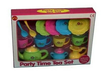 Toy Tea Set Plastic Teapot & Cups & Accessories