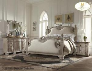 White Solid Queen Bedroom Set - Furniture Sale (BD-2339)