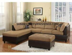 City Life Sectional Corduroy Fabric $698 Lowest Price In Stock