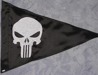 Custom Triangle Punisher Safety Flag 4 ATV Jeep Recumbent  bike UTV Whip Pole  (Atv Safety Flag)