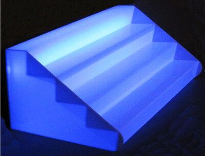 Puerta botellas Con Scalini En Plex ópalo Transparente Iluminado cm 100