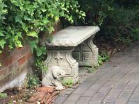 Classic Concrete Garden Bench - 950cm long x 35cm wide x 40cm high
