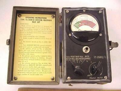 Ts-268 Crystal Rectifier Microwave Diode Tester Meter 1n21 1n23