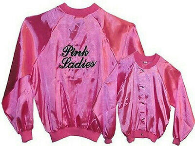 Deluxe Quality Pink Lady Costume Jacket Grease Pink - Grease Pink Lady Kostüme