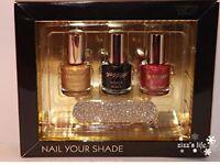NEW Goldigga sparkling nail polish gift set