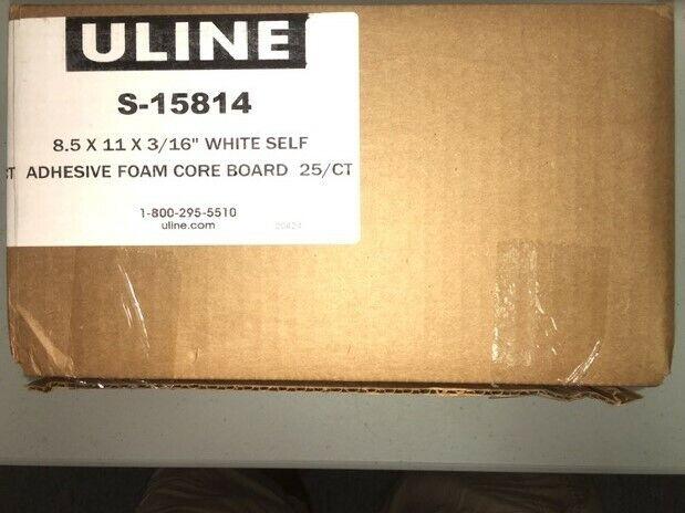 white 25 ct adhesive foam core board