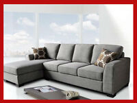 PROMOTIONAL GREY SECTIONAL ON SALE, $999.99 @ YVONNE'S FURNITURE
