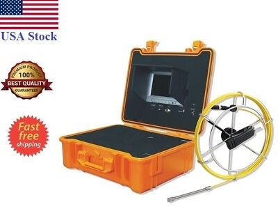 Sewer Drain System 7 Lcd 30ft Cable Rell 13mm Color Snake Camera Sd Usb Record