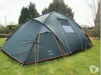 Large Camping tent 4 person plus wardrobes, stove, gas bottle beds and loads of extras!!!