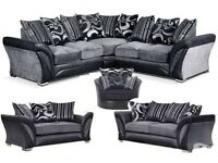 Brand new dfs style Shannon corner/3+2 sofa free matching pouffe with all orders today