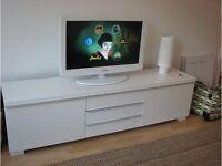 TV Bench - Hi-gloss white