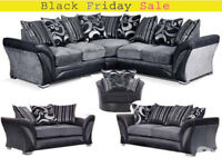 SOFA DFS SHANNON CORNER SOFA BRAND NEW with free pouffe limited offer 5490DDAUACCC