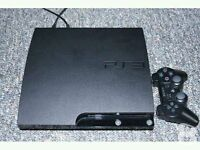 PS3 SLIM WITH 120 GB HARD DRIVE AND WIRELESS CONTROLLER
