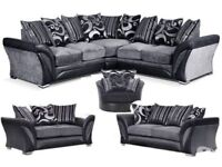 SOFA DFS SALE SHANNON CORNER OR 3+2 BRAND NEW FREE MATCHING POUFFE