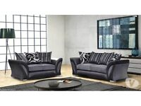 Wow 50% sale New dfs Shannon 3+2 sofa in chenille,faux leather material,wow amazing modern design