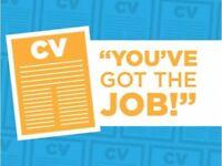 CV Writing & Amending from £20, Professional CV Writer, Great Reviews, FREE CV Feedback, Help