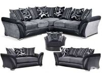 DFS SOFA SALE SHANNON CORNER OR 3+2 BRAND NEW FREE MATCHING POUFFE