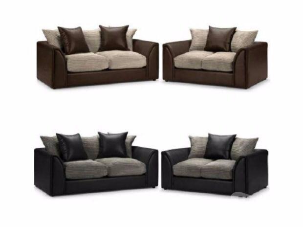 ❤Best Buy❤ Supreme Quality ❤ New Byron Jumbo Cord + Leather Sofa. Avlble - �Best Buy❤ Supreme Quality � New Byron Jumbo Cord + Leather