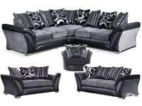 Brand new DFS Style corner sofa/ 3+2 set free pouffe