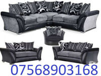 SOFA BOXING DAY SALE CORNER OR 3+2 BRAND NEW FREE MATCHING POUFFE 322