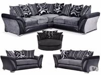 NEW Shannon 3+2 Corner OR Swivel Chair From £299+FREE Footstool