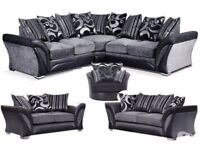 NEW DFS CORNER AND 3+2 SOFA SET AS IN PIC FREE CUSHIONS