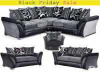 SOFA DFS SHANNON CORNER SOFA BRAND NEW with free pouffe limited offer 3UA