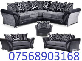SOFA BOXING DAY SALE CORNER OR 3+2 BRAND NEW FREE MATCHING POUFFE 3132