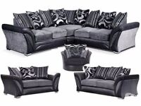50% off BRAND NEW dfs Shannon corners or 3+2 SOFA FREE STORAGE POUFFE MATCHING RUGS