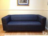Klippan sofa with denim Cover