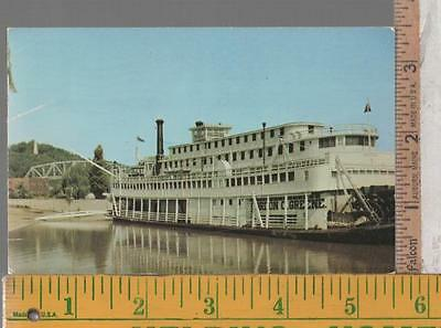 1950s USED POST CARD RIVERBOAT GORDON C. GREENE AT HANNIBAL MO