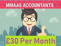 £360 PER YEAR PROFESSIONAL ACCOUNTANTS TAX SELF ASSESSMENT PAYROLL VAT CORPORATION TAX BOOKKEEPING